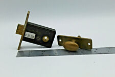 VTG Antique Door Lock Russell & Erwin R&E Thumb Turn Latch Mortise Brass