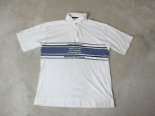 VINTAGE Tommy Hilfiger Polo Shirt Adult Large White Blue Maritime Provisions 90s