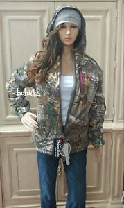 Women's Realtree Camo & Pink Insulated Waterproof Breathable Coat L XL XXL