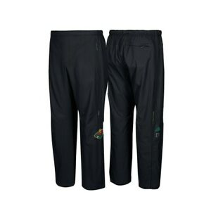 Minnesota Wild NHL Adidas Men's Black Center Ice Authentic Rink Pants