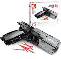 Sembo Blocksteine Signal Gun Shooting Sicherheit Figur Spielzeug Modell Geschenk