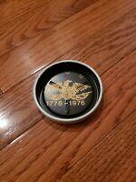 Vintage 1976 Bicentennial USA Metal ashtray 1776-1976 eagle