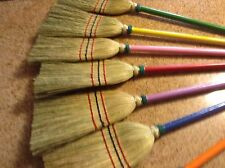 Pink Child Size Broom  Great For Dress Up Tea Party Birthday Item All Broomcorn