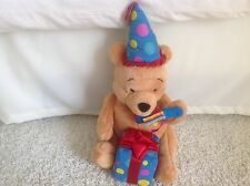 Walt Disney Winnie the Pooh Birthday Party Stuffed Animal Plush Hat Present