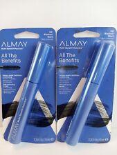 2X Almay All The Benefits Multi-Benefit Mascara 501 Blackest Black 0.24 Fl Oz