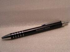 Kugelschreiber Metall Kuli in schwarz incl kostenloser Wunsch Gravur