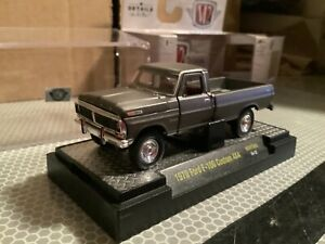 1970 FORD F-100 grey custom 4x4 Titanium series  M2 machines 1/64