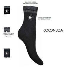 Calza donna calzino corto COCONUDA moda strass lurex in caldo cotone fashion