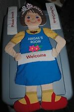 Abigail Abby Abigails Room Vintage 1977 Cloth Fabric Door Hanging Room Greeter