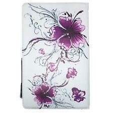 HUAWEI MEDIAPAD T2 - Tablet PC Schutzhülle Tasche - Lila Blumen 10.1 Zoll 360°