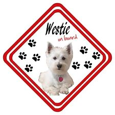 West Highland Terrier (Westie) On Board Car Sign Personalised Have it Your Way