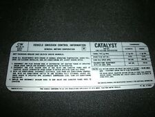 1978 OLDSMOBILE CUTLASS DELTA 88 98 OMEGA 305 2BBL ENGINE EMISSIONS DECAL NEW