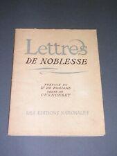 Cuisine Gastronomie M. Curnonsky Dr De Pomiane Lettres de noblesse 1935 illustré