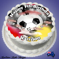 SOCCER BALL *REAL EDIBLE ICING* ROUND CAKE TOPPER IMAGE PARTY FROSTING SHEET
