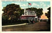 Vintage Postcard - Historic Claremont Riverside Drive New York NY Unposted #3420