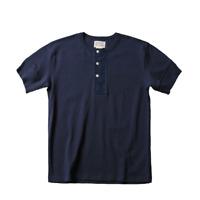 Bronson Henley T-Shirt Vintage Men's Thick Short Sleeve Cotton