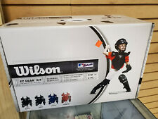 Wilson Youth S-M Catching Gear Black(Helmet, Chest Pro, Shinguards)New in Box