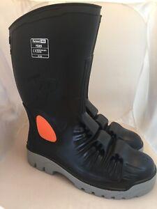 Portwest Metatarsal Safety Wellington Waterproof Boots Metal Free Cap Toe Sz 12