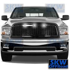 09-12 Dodge RAM 1500 Raptor Style Gloss Black Mesh Grille+Shell+3x White LED