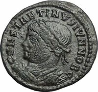 CONSTANTINE II Constantine the Great son Ancient Roman Coin Camp Gate  i54897