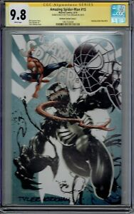 CGC SS 9.8 AMAZING SPIDER-MAN #15 TYLER KIRKHAM SKETCHED & SIGNED HEAD SKETCH