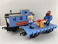 Rudolph The Island of Misfit Toys Red Nose Express Train - Hand Car & Caboose