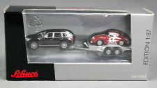 Schuco 452583600 (H0, 1:87) Porsche Set Cayenne And 356 Coupe On Trailer - New