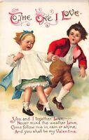 Valentine's Day Postcard Boy Holding Crying Girls Hand~115466