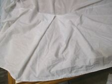 Full Size white Bed Skirt 100% Cotton 15 Inch drop Pleated by Utopia Bedding