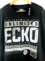 Ecko Unltd Mens S Charcoal Gray Graphic T-Shirt Logo Print Tee Size Small