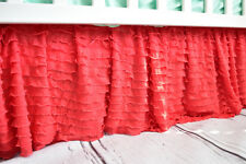 Coral Ruffle Crib Skirt for Baby Girl Nursery - Gorgeous Dust Ruffle Chic