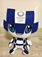 Tokyo Olympic 2020 100% Official Mascot Plush Doll XL Blue Limited Japan 17""