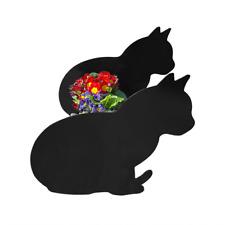 Cat Sitting Garden Planter Plant Pot Holder Patio Ornament Cat lovers