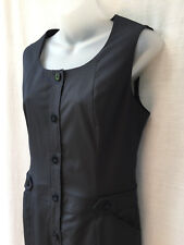 Size 10 S Corporate Dress NEW Charcoal Stripe Easycare Non-Crush Work Office