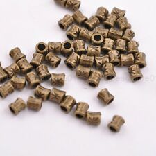 50/100Pcs Antique Tibetan Silver Tube Charm Spacer Beads for Bracelet 3034