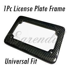 Bike License Plate Frame 1x Real Carbon Fiber Black Rear #Pt5 Motorcycle Scooter