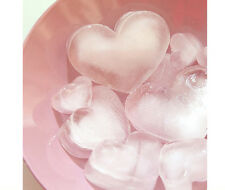 Silicone Heart Shaped Ice Cube Tray Carving Mold Mould Party Bar Drink