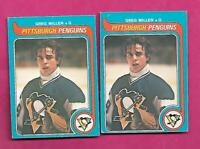 2 X 1979-80 OPC # 281 PENGUINS GREG MILLEN GOALIE  ROOKIE CARD (INV# C4343)