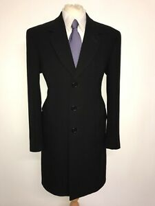 PAUL SMITH - Mens Long BLACK WOOL COAT - UK 44 Reg - XL - LOVELY WARM COAT
