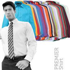 Polyester Patternless Regular Long Formal Shirts for Men