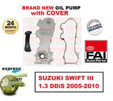 Pour Suzuki Swift III 1.3 Ddis 2005-2010 Tout Nouveau Fai Pompe à Huile + Housse