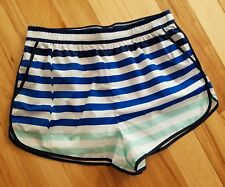 HUNTER for Target Blue Striped Athletic Shorts Women's Size M Medium