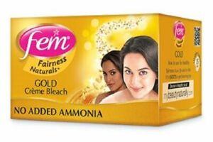 Dabur Fem Diamond Gold Cream Creme Bleach Face Skin Whitening