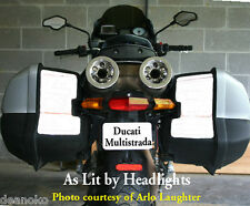 Ducati Multistrada hardbag reflective decals