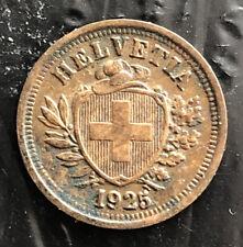 SWITZERLAND 1925 1 RAPPEN VERY NICE CONDITION L3