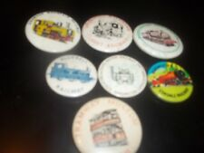 6 Plus 1 Tin plate railway related badges