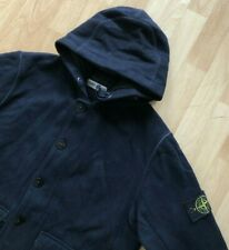 STONE ISLAND MADE IN ITALY NAVY BLUE WOOL HOODED PARKA JACKET L / XL casuals