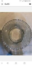 Vintage Kig Malaysia Clear Glass Covered Candy Dish