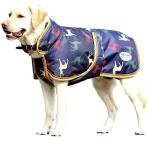 """NEW WeatherBeeta Dog 30"""" Parka 1200D Deluxe Dog Coat - Stag Print - CLOSEOUT"""