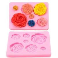 Silikon 3D Big Rose Blume Fondant Kuchen Schokolade Mold Mold Tool Sugarcra C6L5